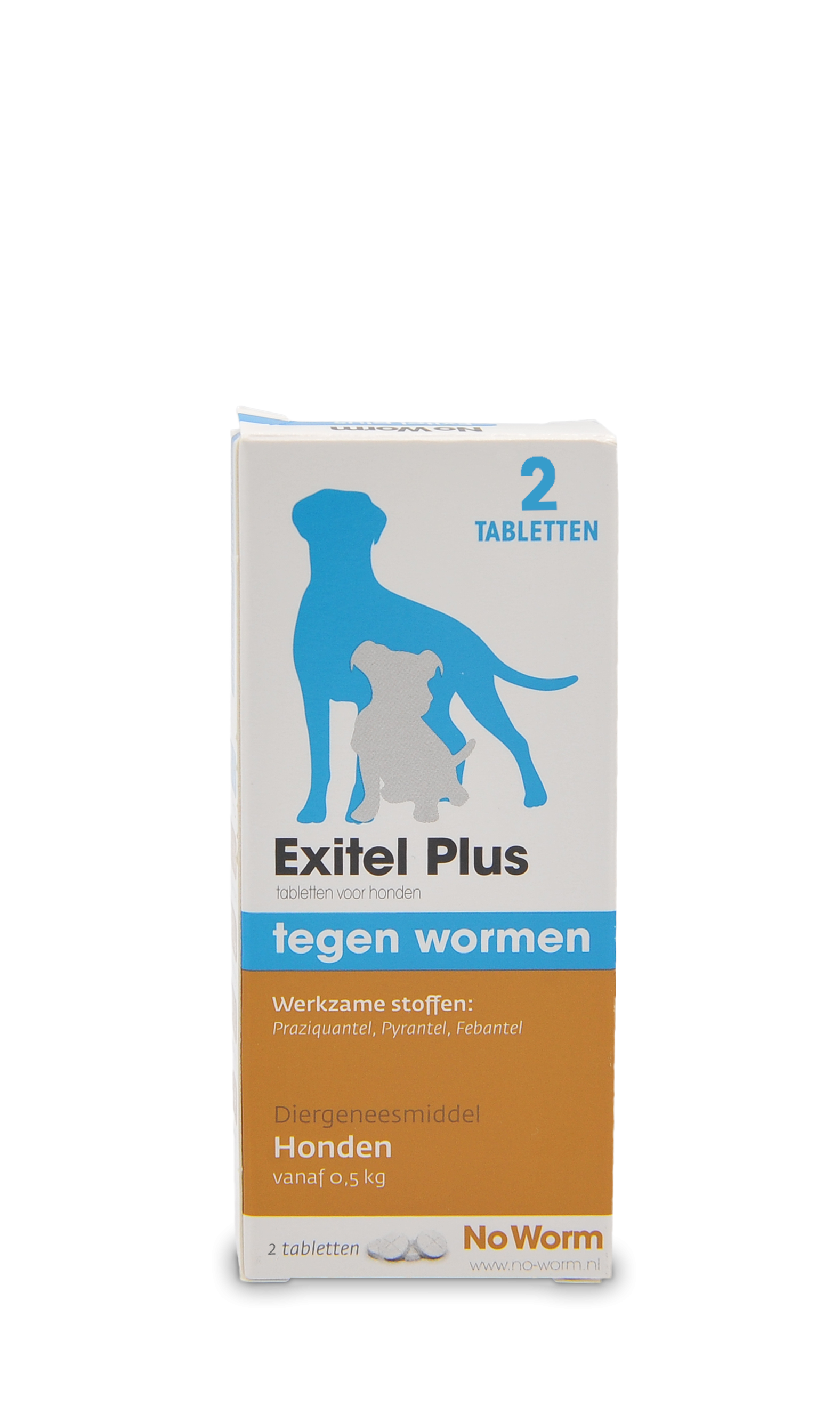 Emax - No Worm Extitel Plus - 2 Tabletten - Van 0,5 tot 20 kg