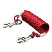 Tie Out Cable with Spiral Cable - 5 m - Geschikt voor dieren tot: 50 kg