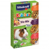 VITAKRAFT - Kracker Trio-Mix - Cavia - 3 Stuks / Honing, Fruit, Noten