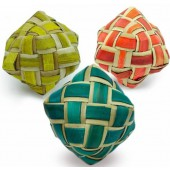 Back Zoo Nature Coloured Woven Cube - ca 7 cm