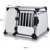 TRANSPORT BOX Aluminum - XL - 93 × 65 × 81 cm