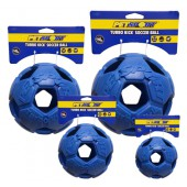 Turbo Kick Soccer Ball Blauw - in 3 maten - met Video!!
